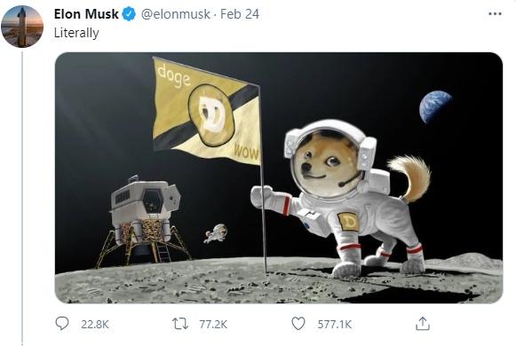 도지가 진짜 달에?… 일론 머스크, 달 우주선 테스트 시행